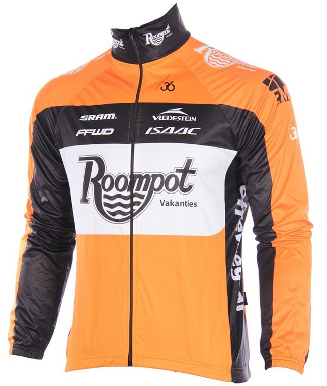 2015 team orange roompot regen Cykeltröja lång ärm Xxl68iS